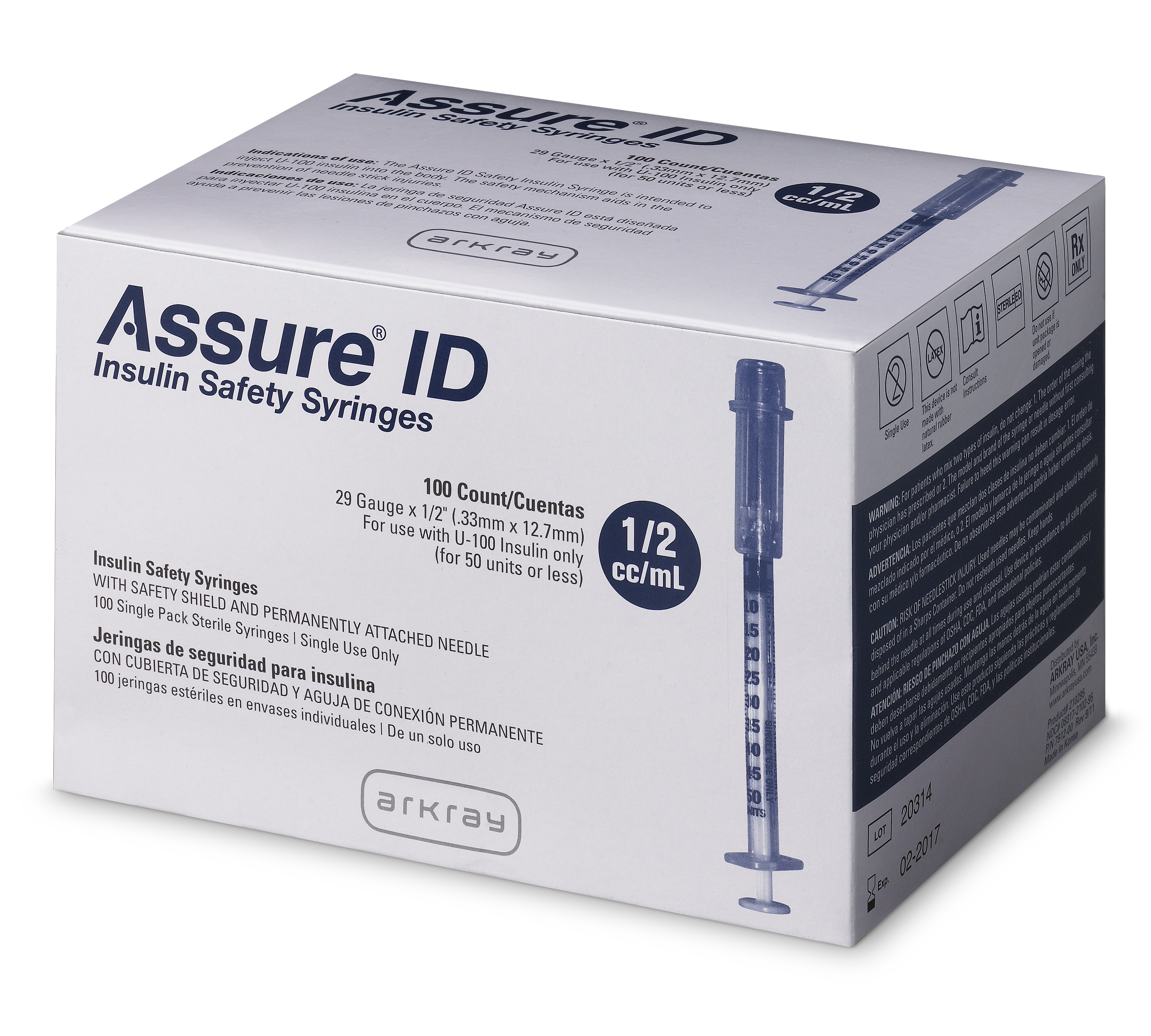 Assure Id Insulin Safety Syringes Arkray Usa