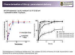 Gloup and paracetamol dissolution